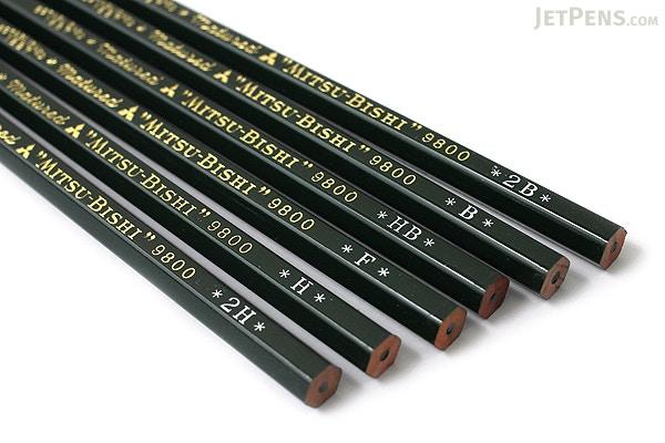 Uni Mitsubishi 9800 Pencil - HB - JetPens.com