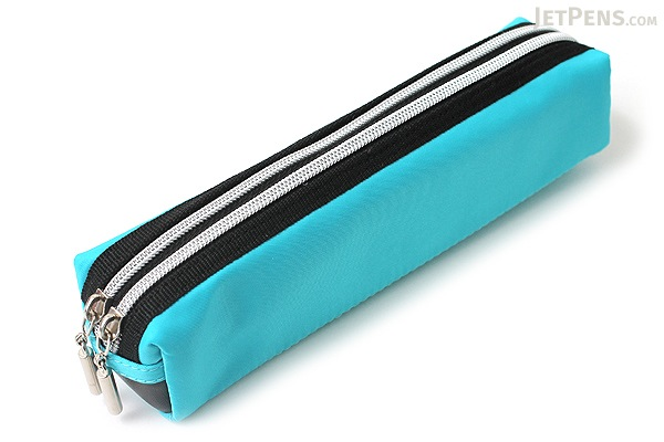 Raymay Double Zipper Color Pencil Case Blue