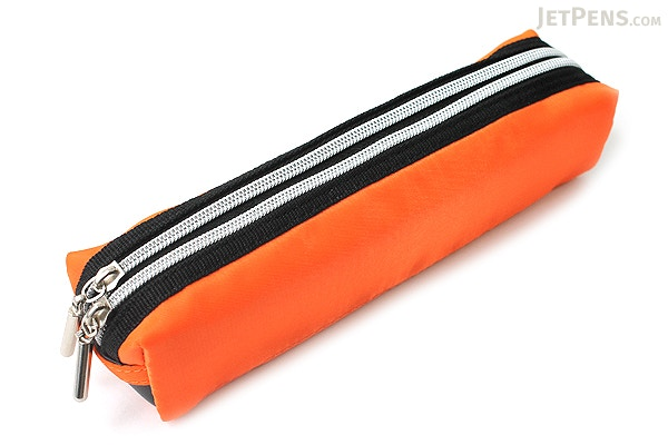 Raymay Double Zipper Color Pencil Case Orange