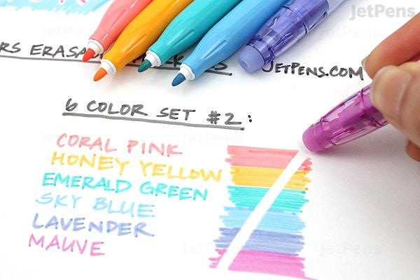 Pilot Frixion Colors Erasable Marker 6 Color Set 2 Jetpens