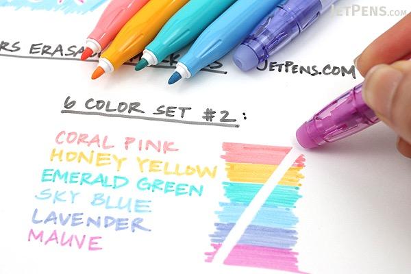 Pilot Frixion Colors Erasable Marker 6 Color Set 2