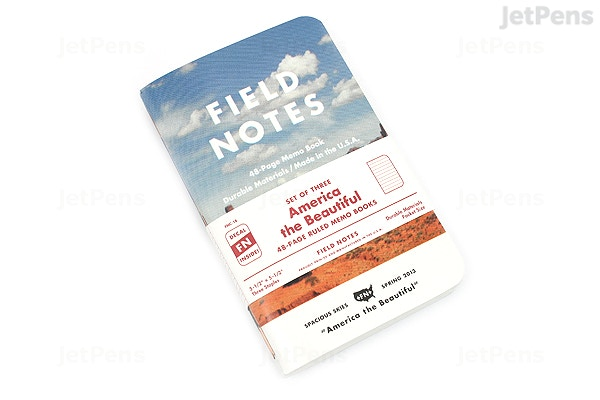 Jetpens Com Field Notes Color Cover Memo Book America The Beautiful Limited Edition 3 5