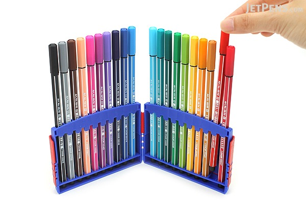 stabilo pen 68 marker 10 mm 20 color set colorparade stabilo 6820