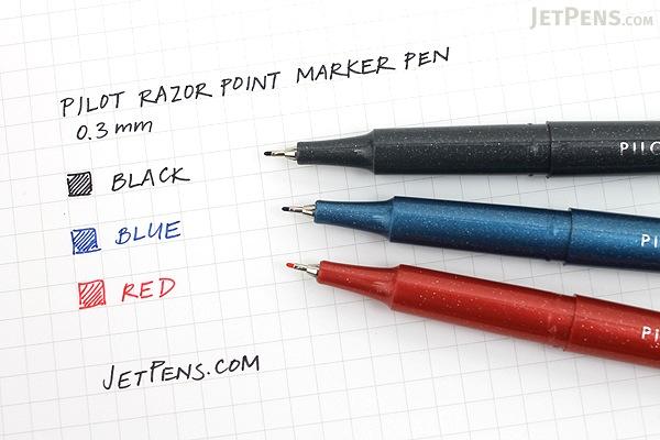 Pilot Razor Point Marker Pen 0 3 Mm Black Jetpens Com