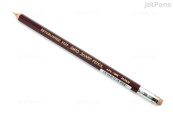 Jetpenscom Ohto Wooden Mechanical Pencil 05 Mm Dark Red