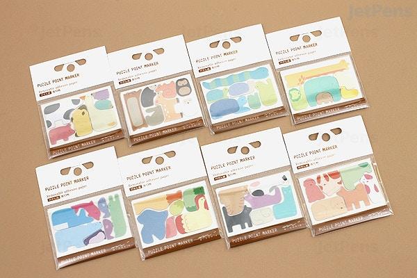 0314fe01f4b0 ... Midori Puzzle Point Marker Adhesive Notes - Forest Animals - MIDORI  11724006. ‹ ›