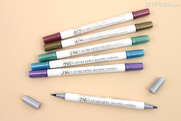 Kuretake Zig Calligraphy Metallic Double Sided Marker Pen