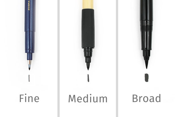 Guide to choosing a brush pen for calligraphy jetpens