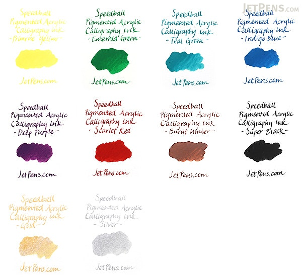 Speedball Gold Calligraphy Ink Pigmented Acrylic 0 4