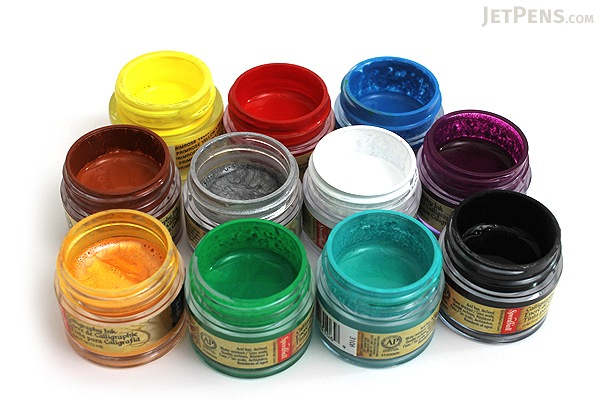 Speedball Silver Calligraphy Ink Pigmented Acrylic 0 4