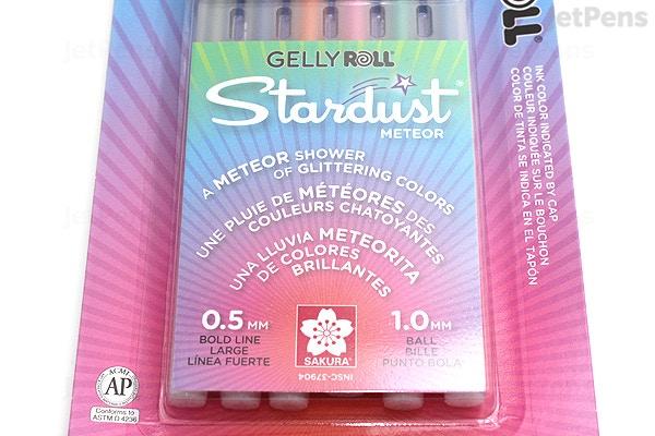 9b4082f30 ... Sakura Gelly Roll Stardust Gel Pen - 1.0 mm - 6 Color Set - Meteor ...