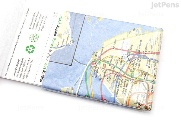 Subway Map Paper Products.Jetpens Com Dynomighty Mighty Wallet Nyc Subway Map