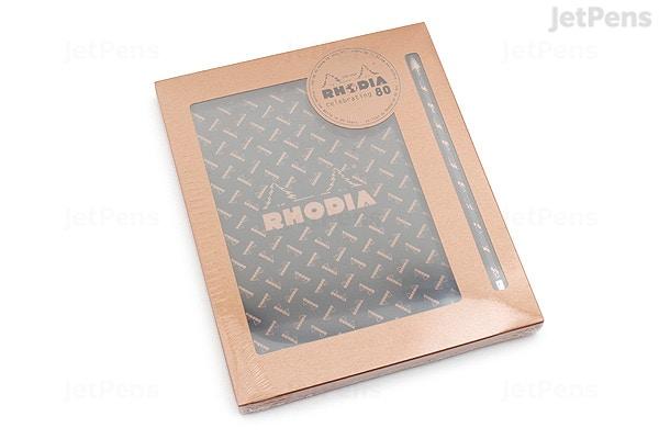 rhodia 80th anniversary gift set no 80 pad pencil a5