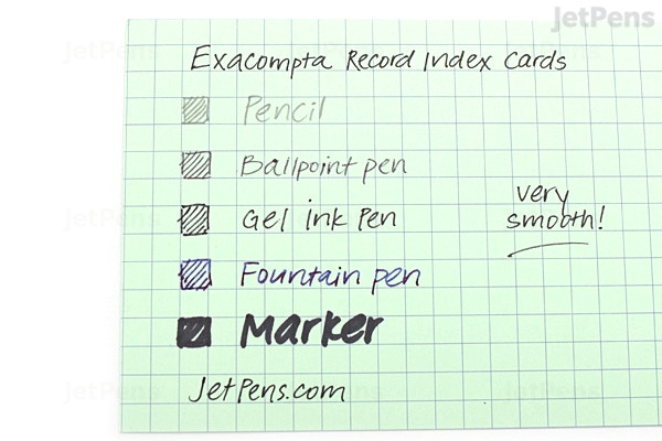 Exacompta Record Index Cards 4 X 6 Graph 100 Cards