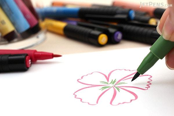 Faber castell pitt artist pen b brush india ink pastel set of