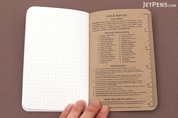 Field Notes Cherry Graph Memo Books
