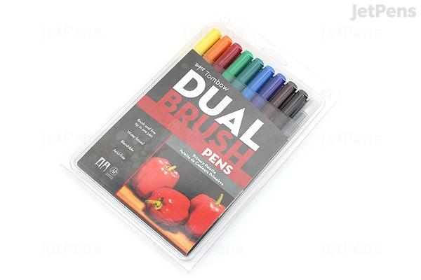 Tombow Dual Brush Pen 10 Pen Set Primary Jetpens