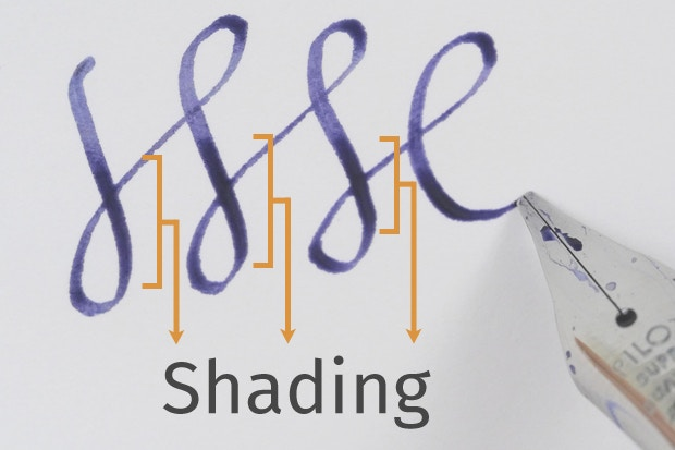 Shading is most common among lighter, more colorful inks, while most black  and medium blue inks have very little or no shading. Blue black inks,  however, ...