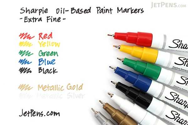 Sharpie Paint Marker Pen Oil Based Fine Point Black