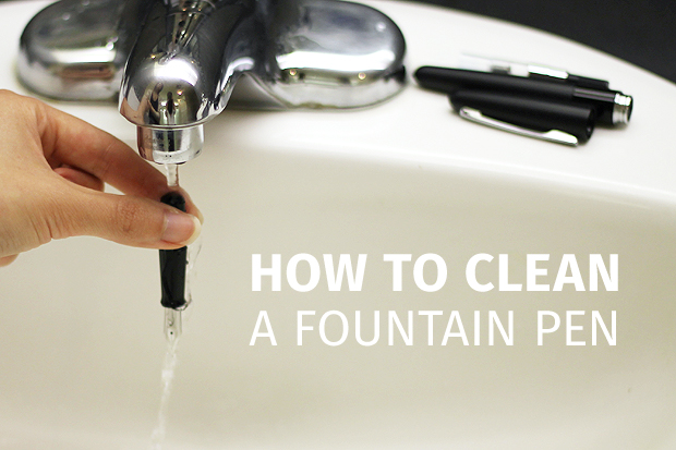 How to clean a fountain pen jetpens