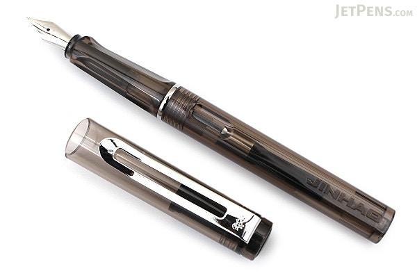 Jinhao 599A Transparent Fountain Pen - Black - Medium Nib - JINHAO 599A-10  ...