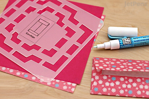 Kuretake handmade mini envelope template | ebay.