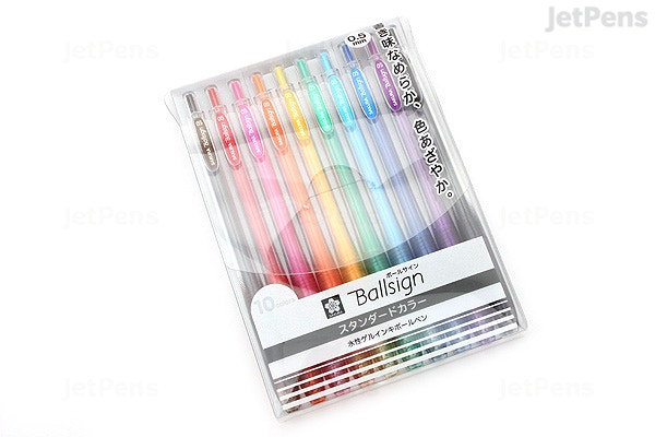 Sakura Ballsign Knock Gel Pen - 0 5 mm - 10 Color set