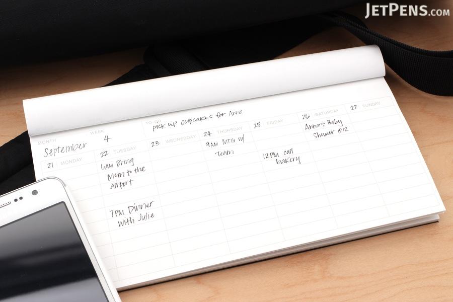 Maruman Mnemosyne N163 Memo Notepad Weekly Calendar 8 x 41 – Weekly Memo Calendar