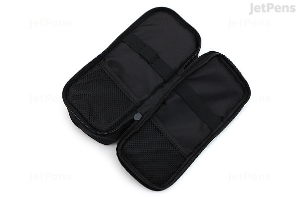 Cubix Round Zip Box Pen Case Black Jetpens