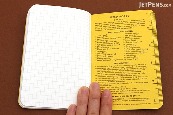 Field Notes Shenandoah Memo Books 35 x 55 48 Pages Graph – Field Note