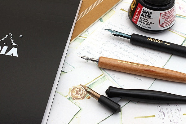 Calligraphy for beginners using a pointed pen jetpens