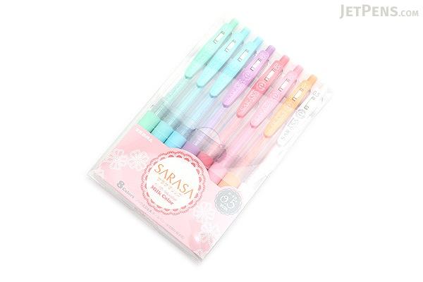 Zebra Sarasa Push Clip Gel Pen 0 5 Mm Milk 8 Color