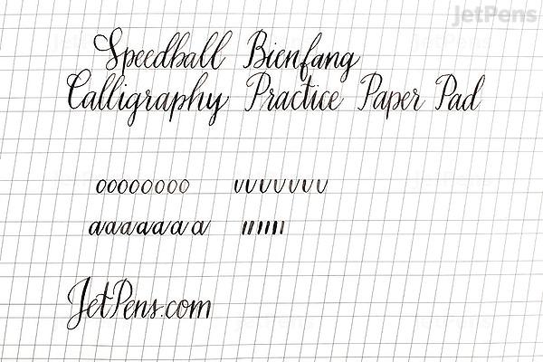 JetPens com - Speedball Bienfang Calligraphy Practice Paper Pad - 9