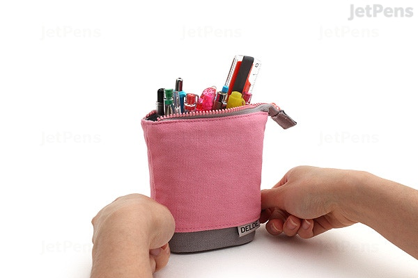 Sun-Star Delde Slide Pen Pouch - Cool Light Pink - SUN-STAR S1409590