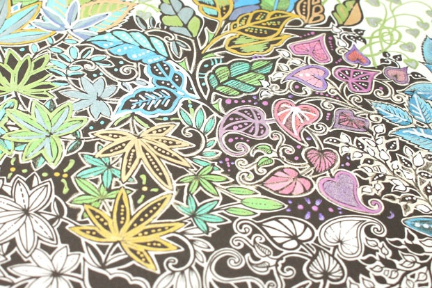 Use Metallic Gel Pens To Give Coloring Pages A Nice Sheen The Same Page Can