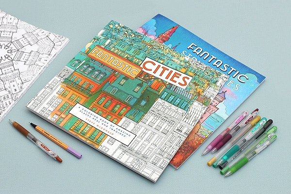 Fantastic Cities Structures Coloring Books