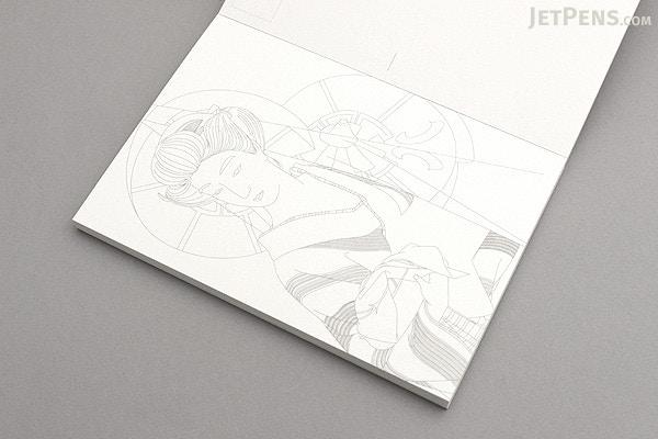 Pepin Postcard Coloring Book - Japanese Designs - JetPens.com