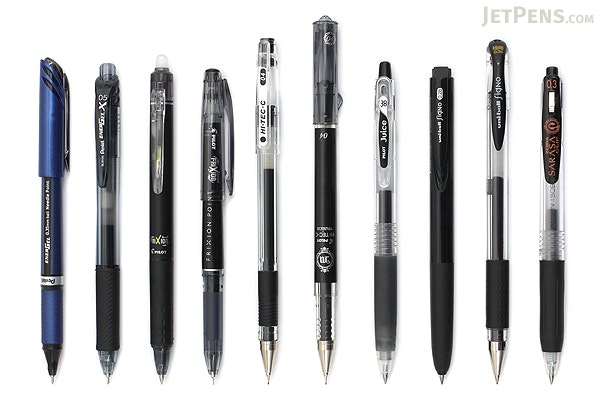 Jetpens Black Gel Pen Sampler Jetpens Com