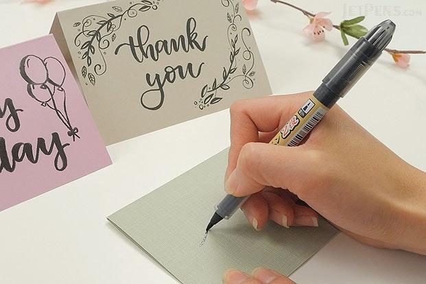 Tombow Fudenosuke Brush Pen Soft Black Body Jetpens Com