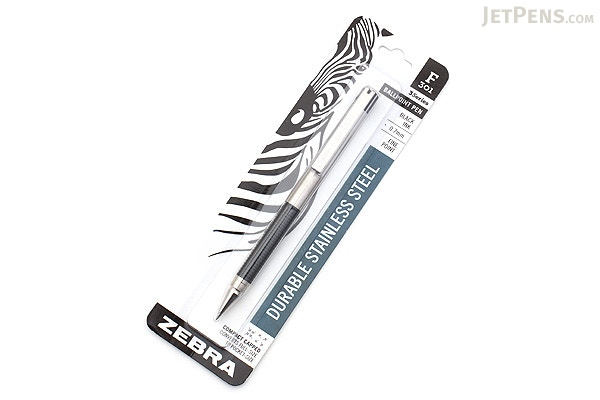 Zebra F-301 Compact Stainless Steel Ballpoint Pen - 0.7 mm - Black - ZEBRA  ...