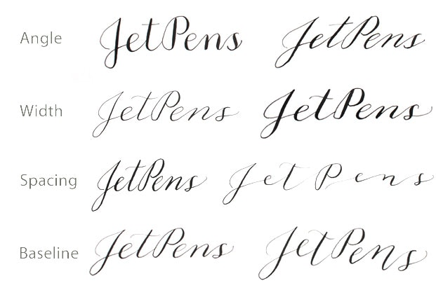 Calligraphy for beginners using a pointed pen jetpens vary your calligraphy style expocarfo Images
