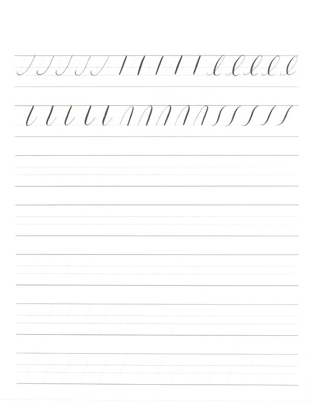 Use Our Printable Practice Sheets To Hone In On Your Calligraphy Skills See Examples For Basic Strokes Capitals Lowercase Letters And Numerals Below