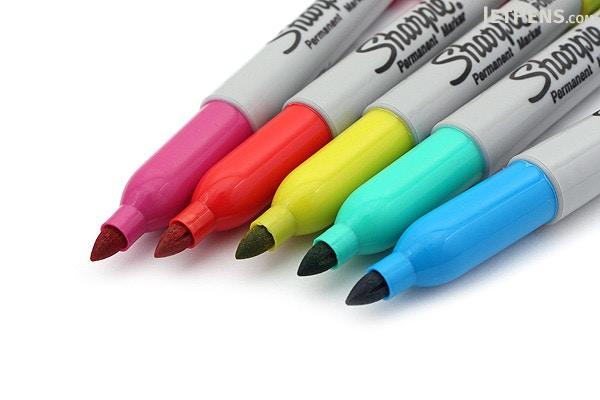 sharpie color burst permanent marker fine point 5 color set. Black Bedroom Furniture Sets. Home Design Ideas