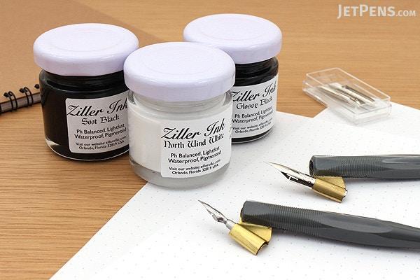 Ziller glossy black acrylic calligraphy ink 1 oz. jetpens.com