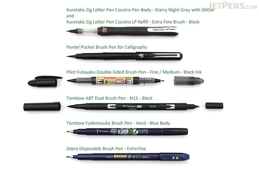 Jetpens Brush Lettering Pen Sampler