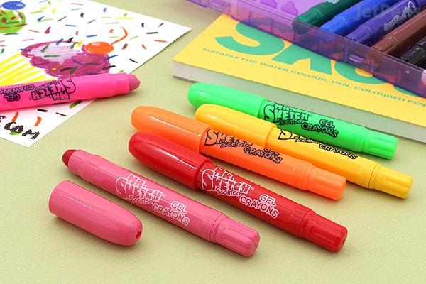 Mr Sketch Scented Twistable Gel Crayons 12 Color Set Jetpens