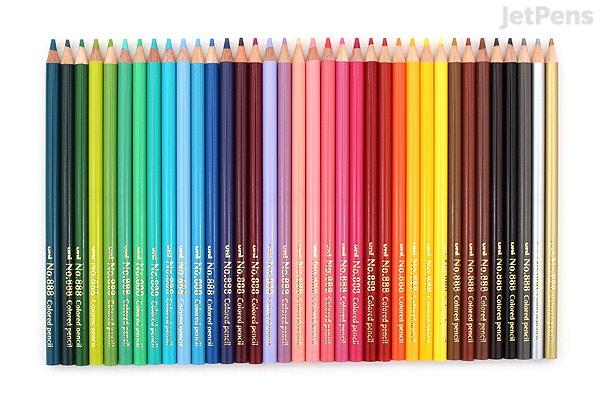 uni no 888 color pencil 36 color set jetpens com
