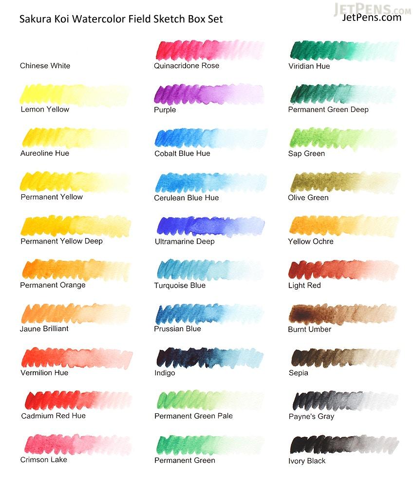 Sakura Koi Watercolor Field Sketch Box Set 24 Color