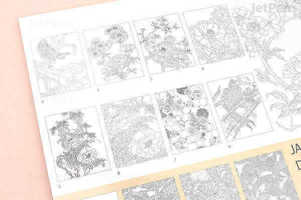 Pepin Artist S Coloring Book Japanese Designs Jetpens