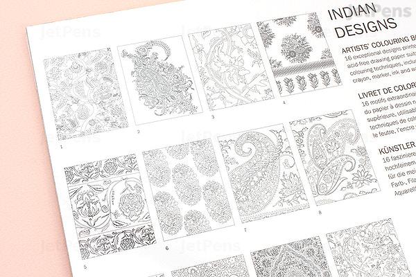 JetPens.com - Pepin Artists\' Coloring Book - Indian Designs